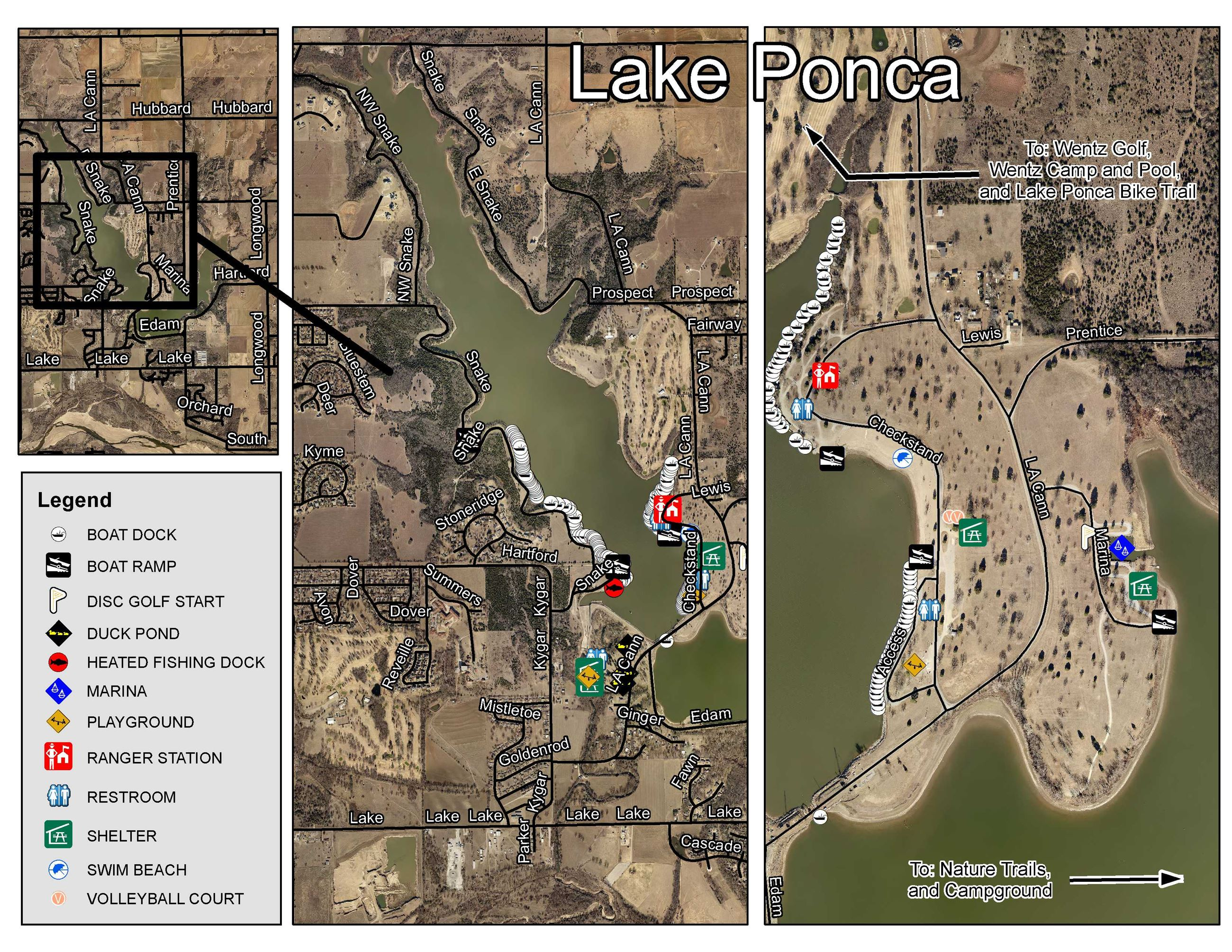 Lake Ponca Map